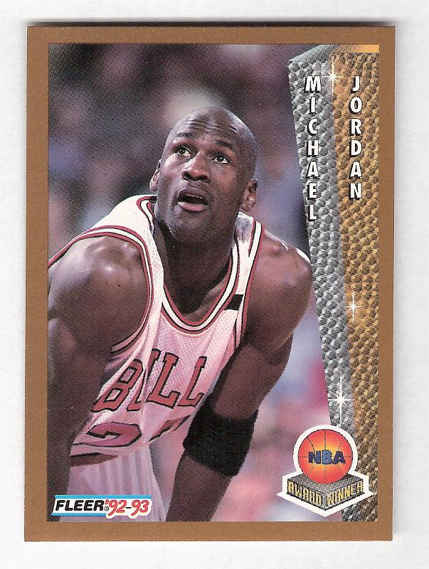 1992 93 Fleer 246 NBA Award Winner